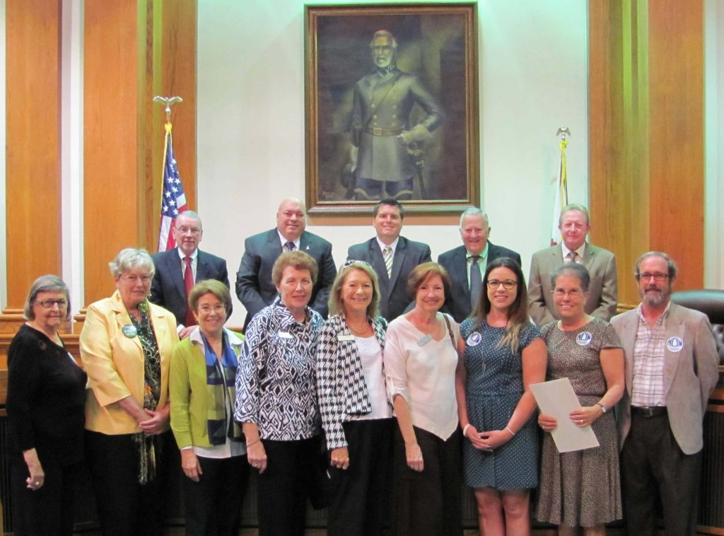 Members of AAUW, LWV, and NOW received the Fort Myers City Council's proclamation for Women's History Month.